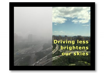 Driving less brightens the skies